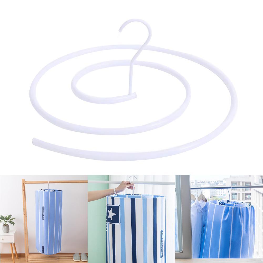 Meatal Spiral Hanger Round Rotating Drying Racks Bed Sheet Drying Hanger Closet Storage Rack Organizer Laundry Storage Racks