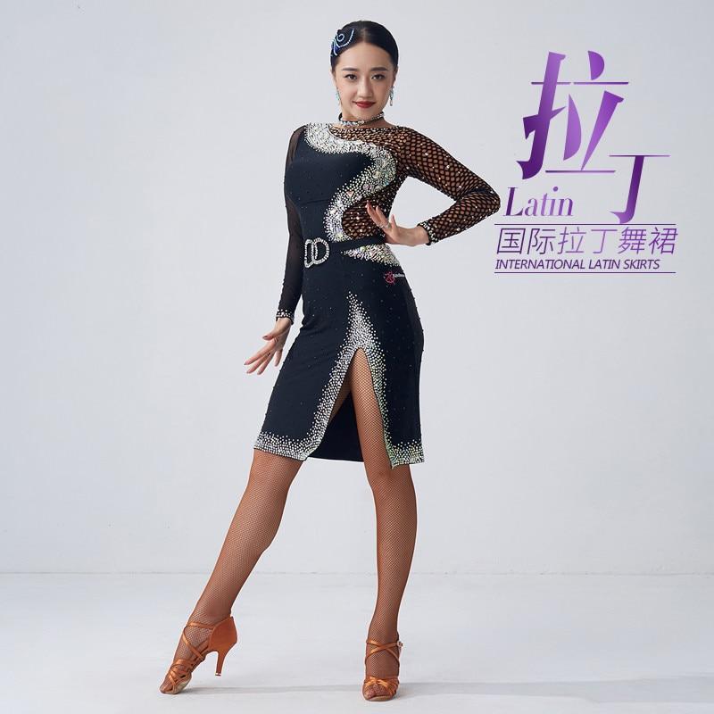 فستان لاتيني جديد لعام 2020 ، شرابات متدرجة ، مسابقة رقص لاتينية قياسية وطنية جديدة ، فساتين مخصصة للنساء البالغات