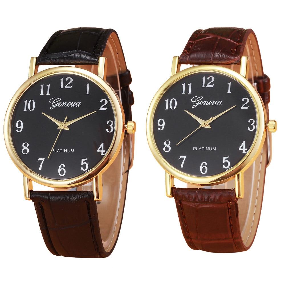 Luxury Watches 2020 Retro Design Leather Band Analog Alloy Quartz Wrist Watch Business Men Ladies Wr