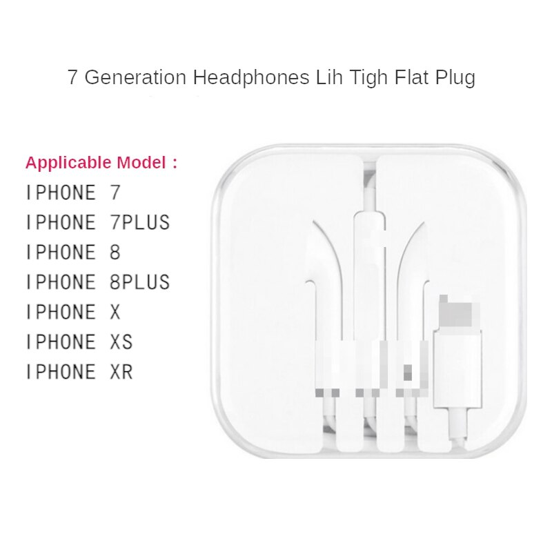 For iphone earphone in ear stereo with microphone wired bluetooth for iphone 7 8 plus x xr xs max 11