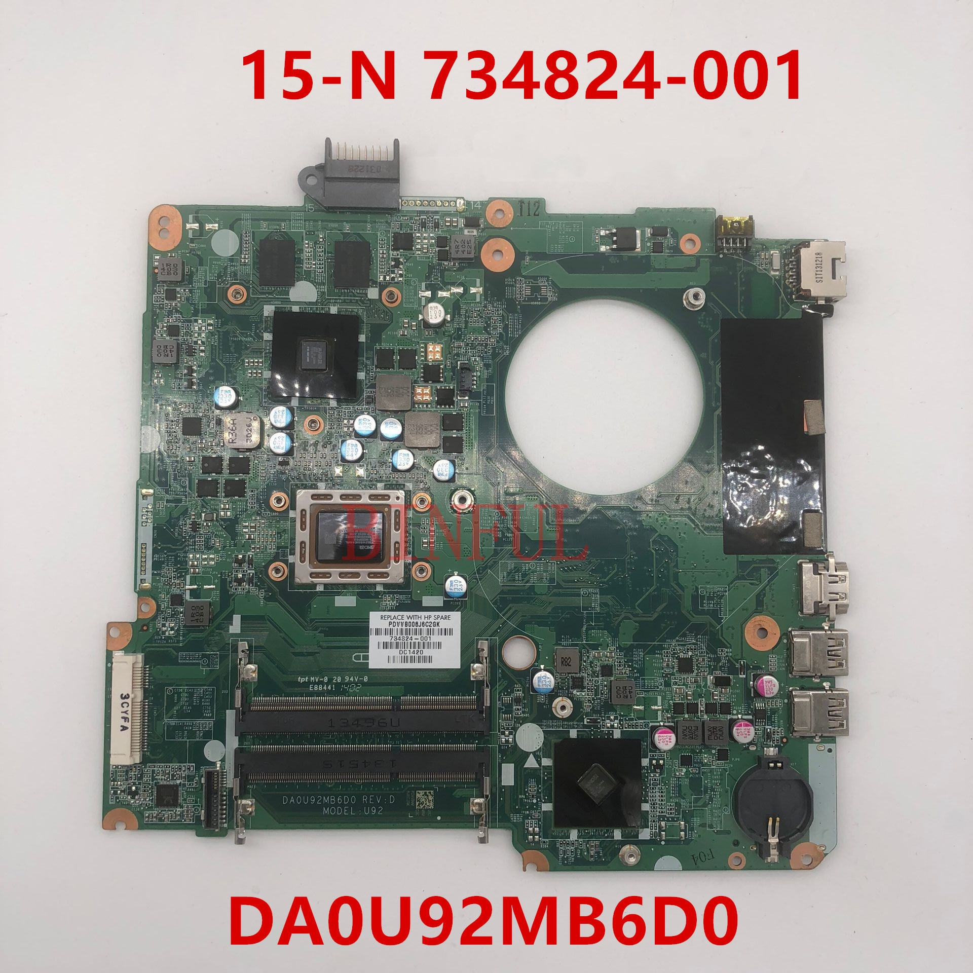 15 15-N 15Z-N 15Z-N100 15Z-N200 734824-001 734824-601 A10-5745M CPU placa base de computadora portátil DA0U92MB6D0 8670M 100% prueba completa de trabajo