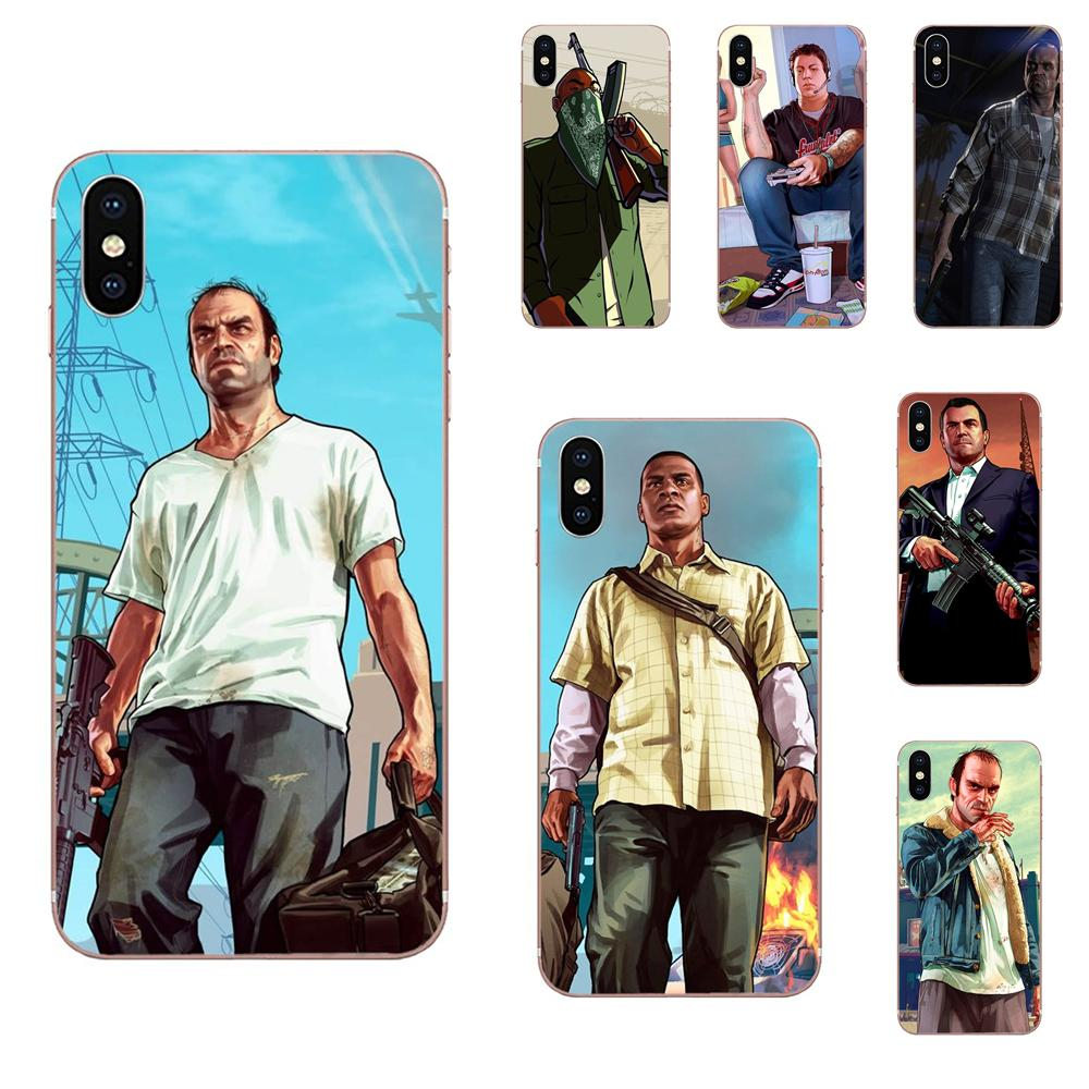 TPU Capas Capa Gta Grand Theft Auto San Andreas 5 Para Xiaomi Redmi 3 3S 4 4A 4X 5 6 6A 7 K20 Nota 2 3 4 5 5A 6 7 Plus Pro