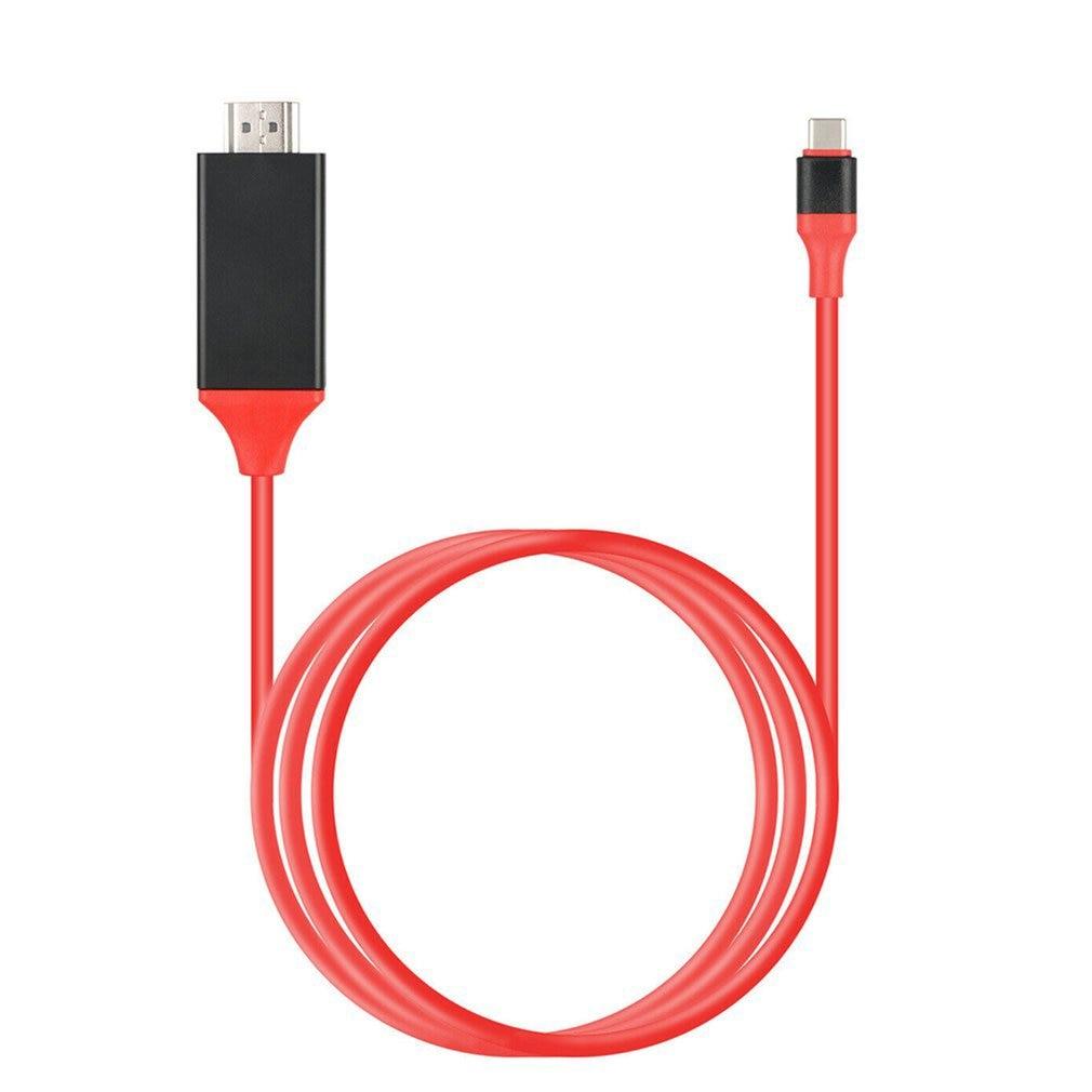 1,8 M tipo-C a HDMI compatible con Cables USB 3,1 a macho...