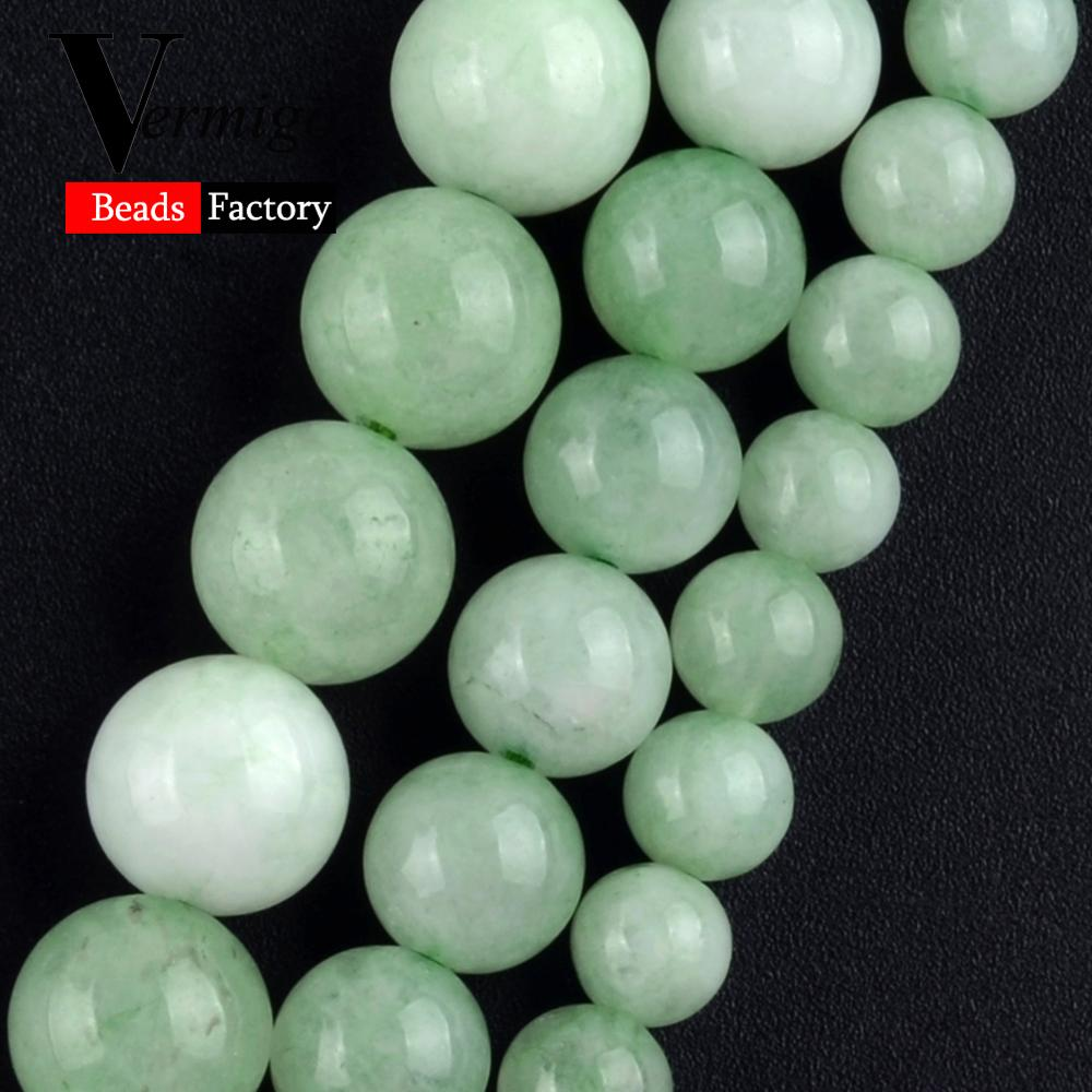 aliexpress.com - Burma Jades Natural Stone Round Spacer Beads For Jewelry Making Mineral Beads Diy Bracelets 6 8 10mm Pick Size 15″Strand