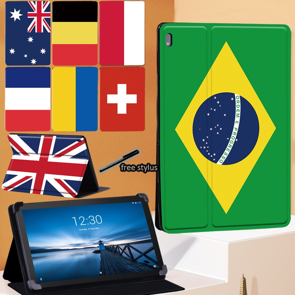 Flag Series Tablet Case for Lenovo Tab E10 10.1 Inch/Lenovo Tab M10 10.1 Inch/Tab M10 FHD Plus 10.3
