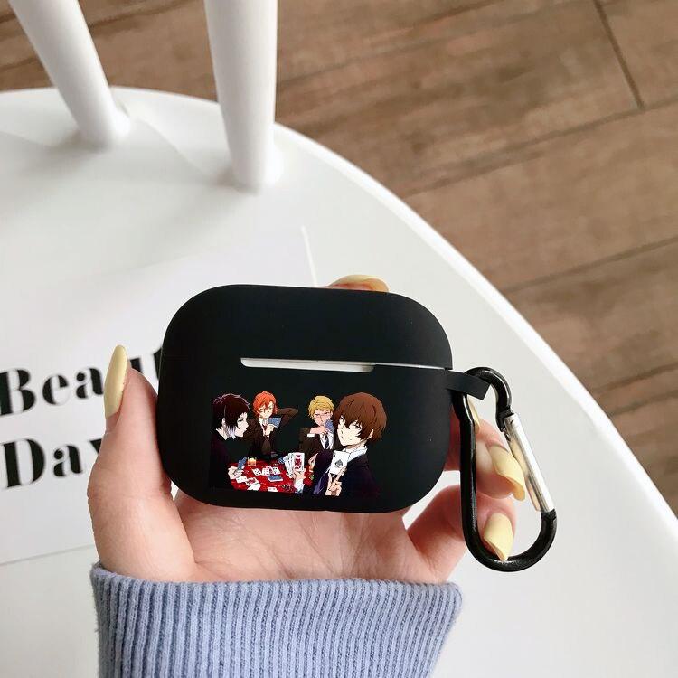 Чехол для наушников с аниме «бродячие собаки», чехол для Airpods Pro, беспроводной чехол с Bluetooth для Apple Airpods Pro, чехол, силиконовый чехол чехол