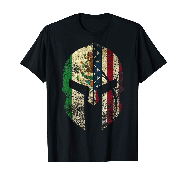 Мексиканский Американский Спартанский шлем Chicano Pride Футболка
