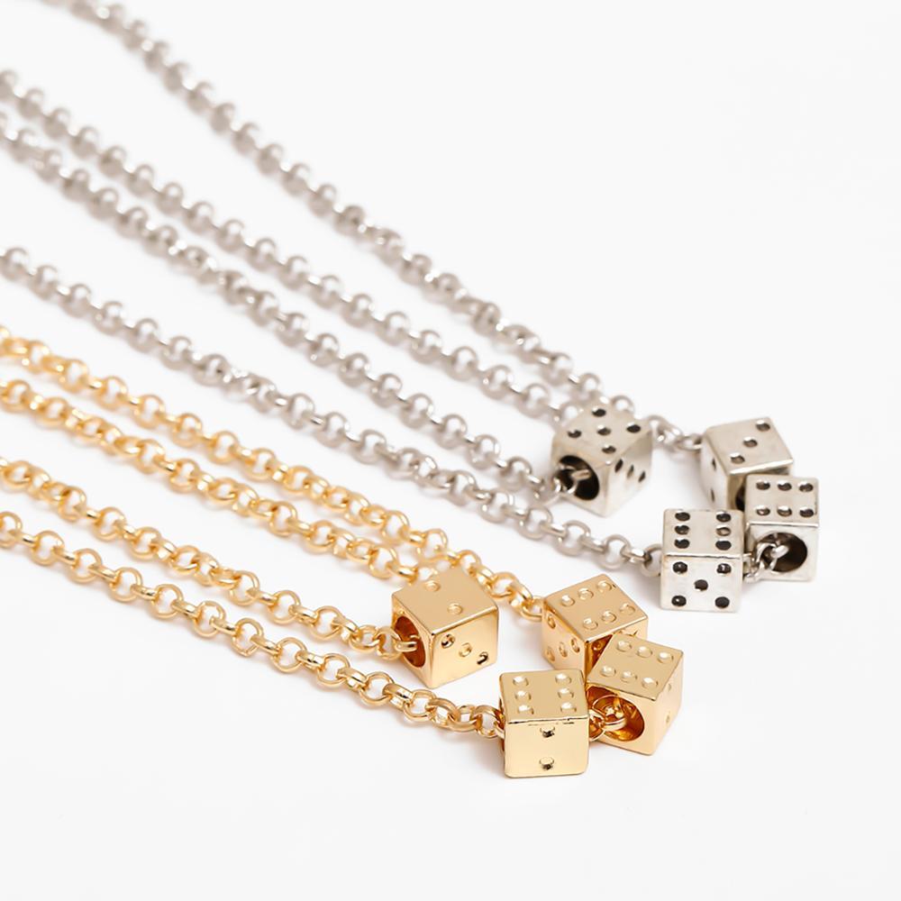 SHIXIN basit çok katmanlı zar kolye kolye kadınlar için moda kore kolye 2020 takı moda boyun kolye kadın hediye