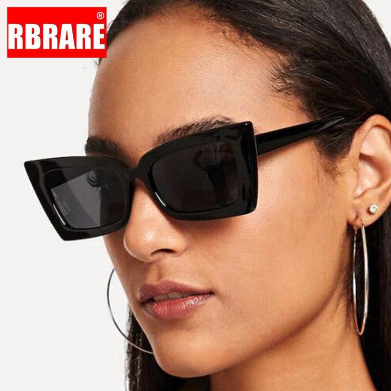 Gafas De Sol cuadradas clásicas RBRARE, gafas De Sol Retro De plástico para mujer, gafas Vintage para mujer, gafas De Sol para mujer
