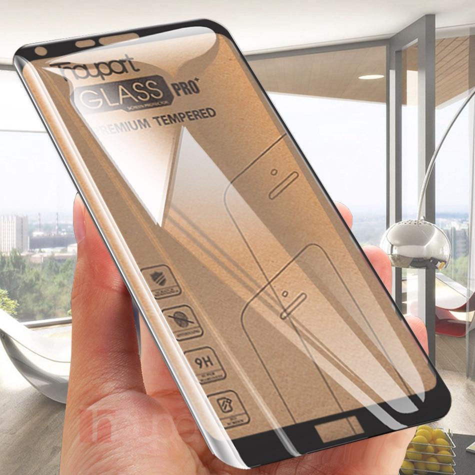 Thouport Für LG Q6 Glas LG Q8 2018 Screen Protector Full Cover Schützende Film Gehärtetem Glas Für LG Q6a Glas rahmen Q6 + alpha
