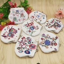 Fashion Vintage Owl Pattern Coin Purse Pu Leather Key Card Holder Wallet Hasp Small Clasp Purse Bag