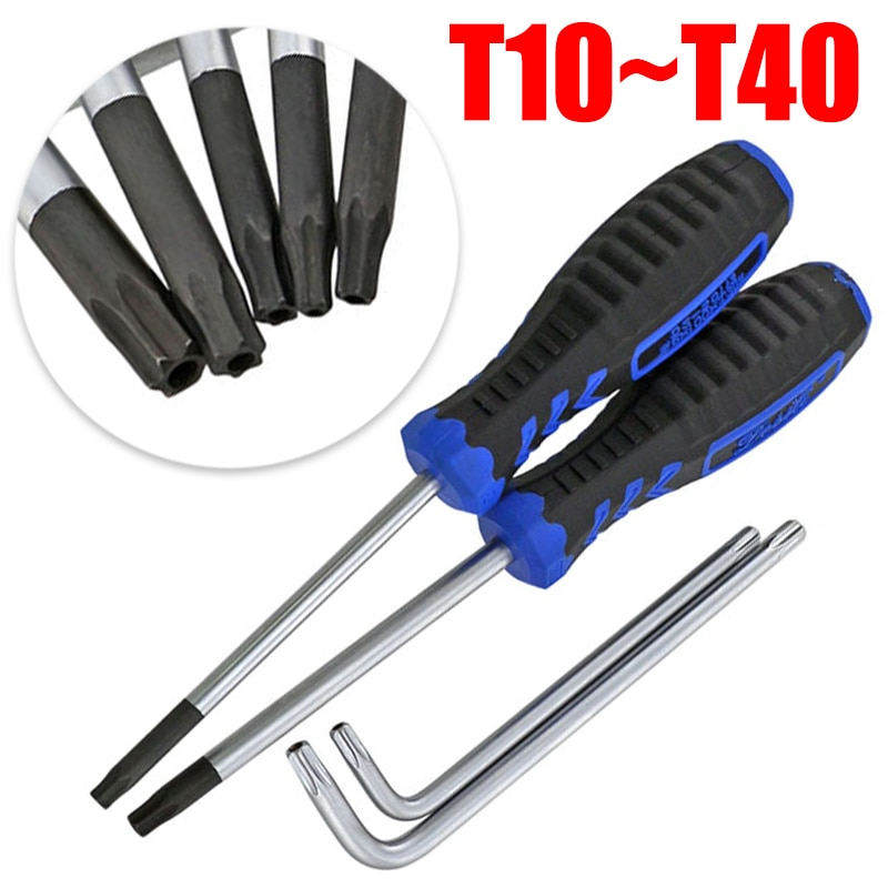Фото - Magnetic Screwdriver with Hole Telephone Repair Hand Tools 1Piece Torx T10 T15 T20 T25 T30 T40 Xbox Cla88 Wireless Controller 46pcs combination set socket wrench ratchet spanner car vehicle repair tools hexagonal pattern t10 t15 t20 t25 t30 t40