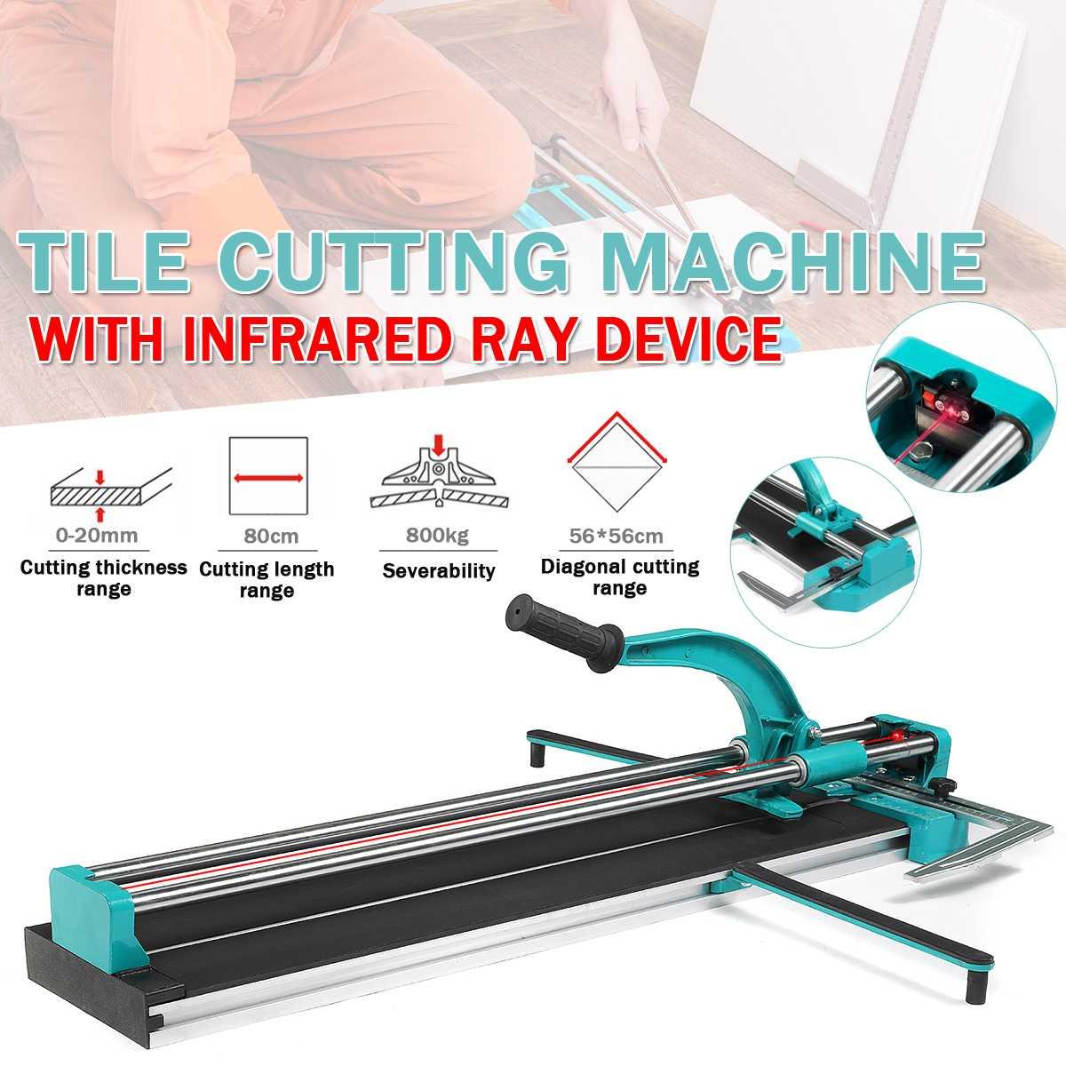آلة قطع البلاط اليدوية الاحترافية ، قاطع البلاط بالليزر بالأشعة تحت الحمراء 800 ، سكين الدفع لقطع السيراميك والجدران والأرضيات