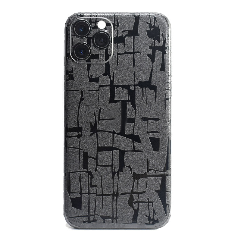 Claro 3D fibra de carbono Crocodie piel pieles película envoltura piel teléfono etiqueta trasera para iPhone 11 Pro XS MAX XR X 8 7 6 6S Plus pegatina