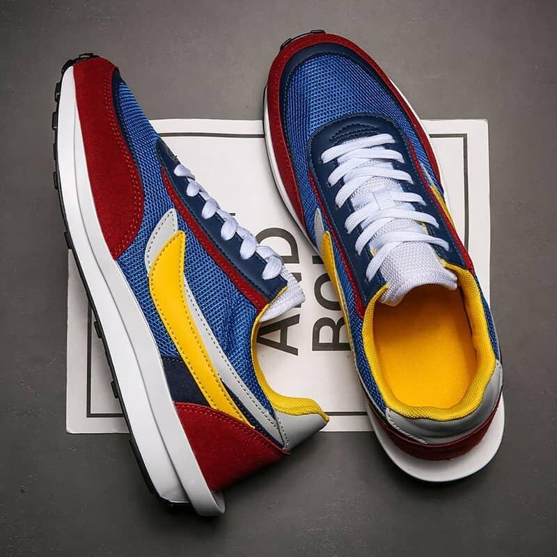MWY-Zapatos Deportivos de encaje de colores para hombre, zapatillas ligeras transpirables para...