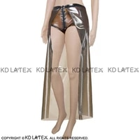 transparent brown sexy latex briefs with zipper front and cloak rubber underwears panties underpants pants dk 0082