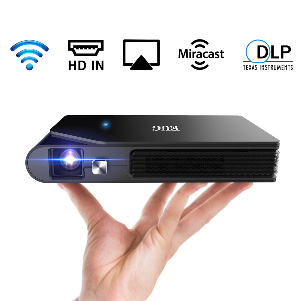 CAIWEI MINI Portable DLP Projector , Support Mobile Phone Screen Mirroring Outdoor Movie, 3D Project