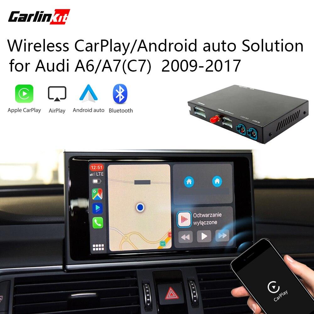 2020 Carlinkit CarPlay Android авто беспроводной декодер для Audi A6 A7( C7) MMI оригинальный экран обратного изображения комплект модернизации
