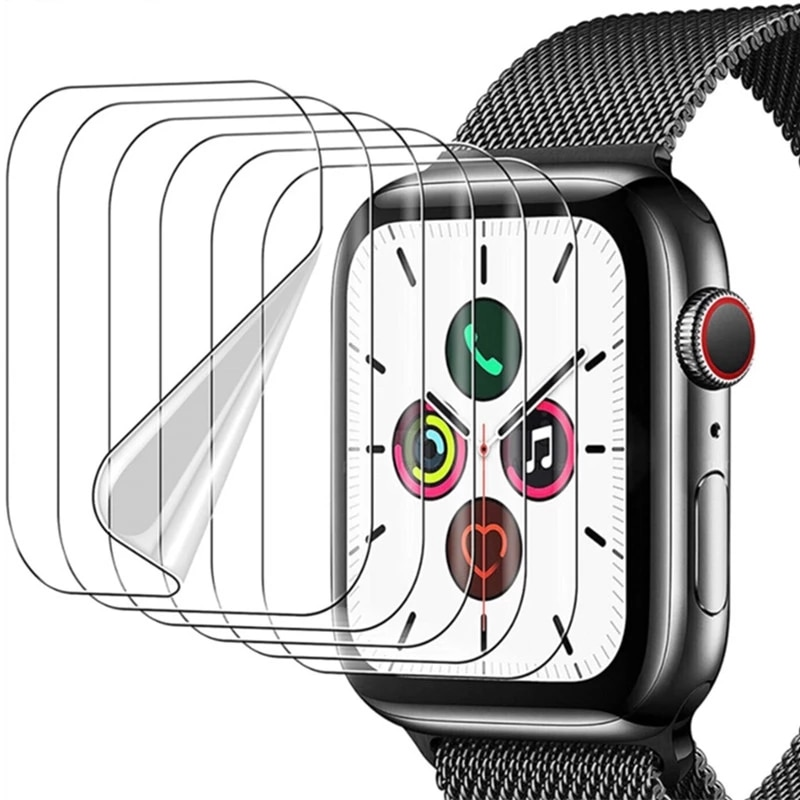 soft glass protector for apple watch series 6 se 5 4 40mm 44mm hydraulic anti fingerprint film for apple iwatch 3 2 1 38mm 42mm Screen Protector Film for Apple Watch 6 SE 5 4 40MM 44MM Clear Full Protective Film Not Glass for IWatch Series 3 2 1 38MM 42MM