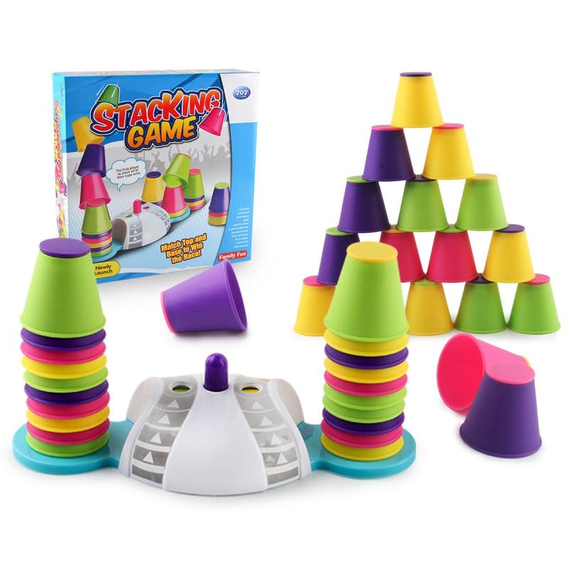 Jogo de empilhamento de copa dobrável, competição competitiva de mão-velocidade, foco no treinamento, desenvolvimento intelectual de jogos de tabuleiro