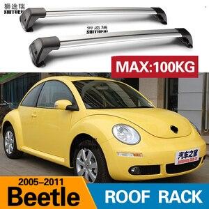 SHITURUI For VOLKSWAGEN  Beetle, 2-dr Coupe 2005-2011 ultra quiet truck roof bar car special aluminum alloy belt lock