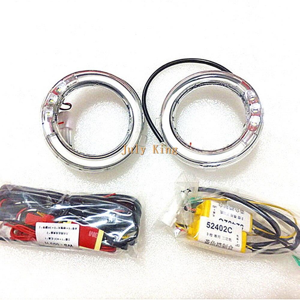 Julio Rey guía de luz LED luces de circulación diurna 3LED DRL LED niebla cubierta de faro para Subaru forester 2008-2012 reemplazo 11