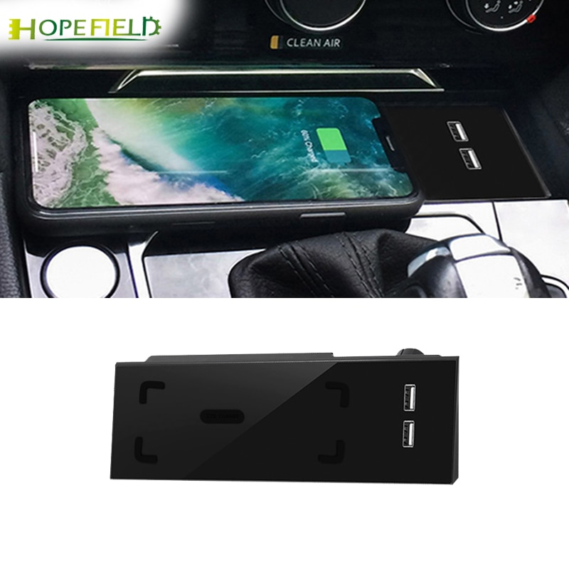 Get Car wireless charger for Volkswagen Arteon for passat b8 2019 CC charging adapter phone holder for iphone for iwatch fast charge