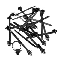 super sale 50pcs nylon cable tie fastener clips car loom hose clamp fastening zip strap cable bundled wire band clip tools