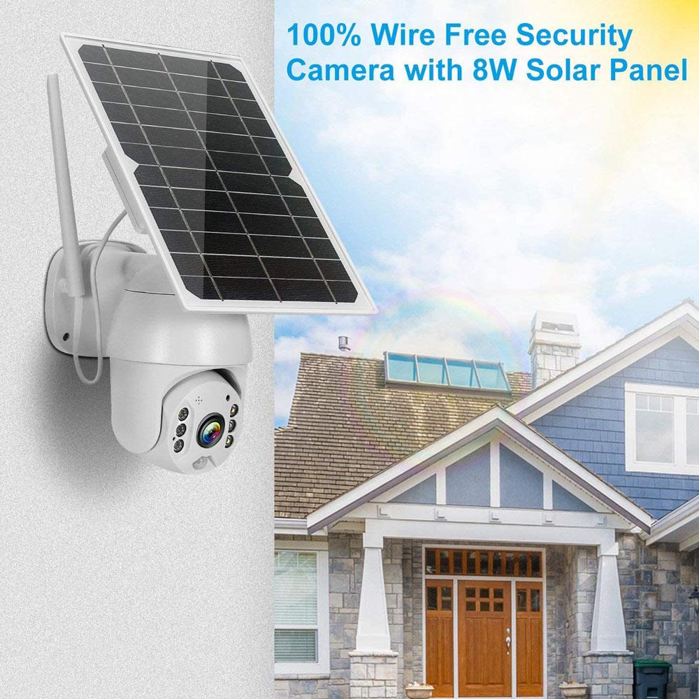 1080P Wireless Solar Camera Wifi Security Camera Outdoor Surveillance CCTV Video Monitor Smart Home PIR Detection Waterproof Cam