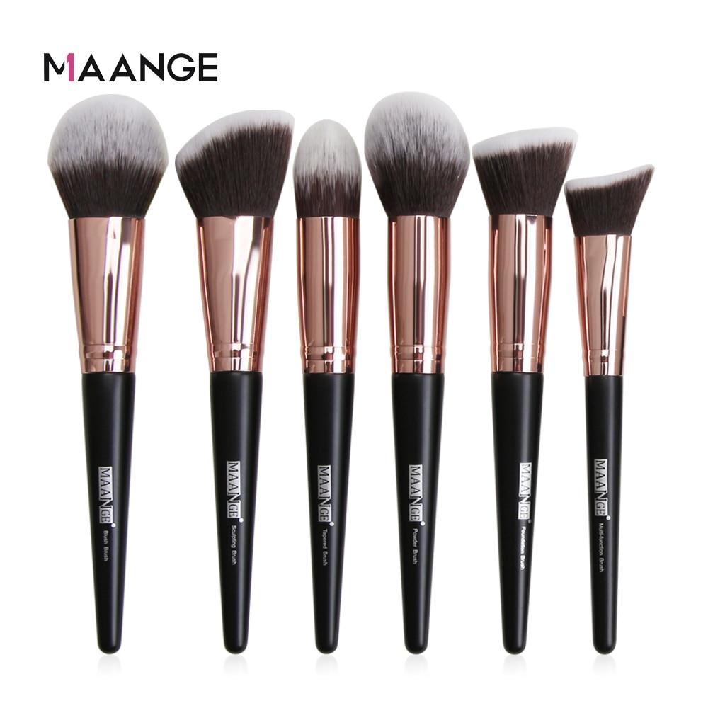 MAANGE 1 Pcs Large Foundation Makeup Brushes Soft Hair Blush Powder Concealer Make Up Brush Face Bea