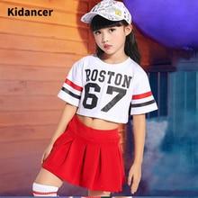 Ensemble t-shirt et jupe pour enfants   Vêtements de danse du ventre pour enfants, 2 pièces, t-shirt court + jupe, vente en gros, nouvelle collection