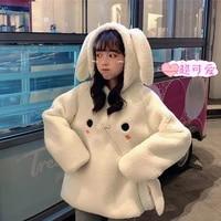 2021 autumn hoodies sweatshirt women cute oversized hoodies casual long sleeve pullover tops harajuku kawaii coats hoodie girl