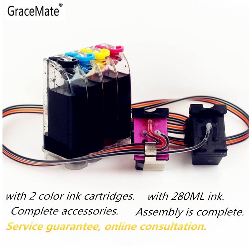 GraceMate Замена для HP 62 XL чернильная система CISS совместим с HP Envy 5640 OfficeJet 200 5540 5740 5542 7640 принтеров