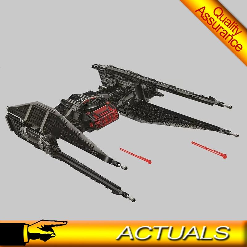 Kylo tie lutador estrela blocos de construção ren guerras modelo tijolos brinquedos presente compatível 75179 bela 10907 leping 05127