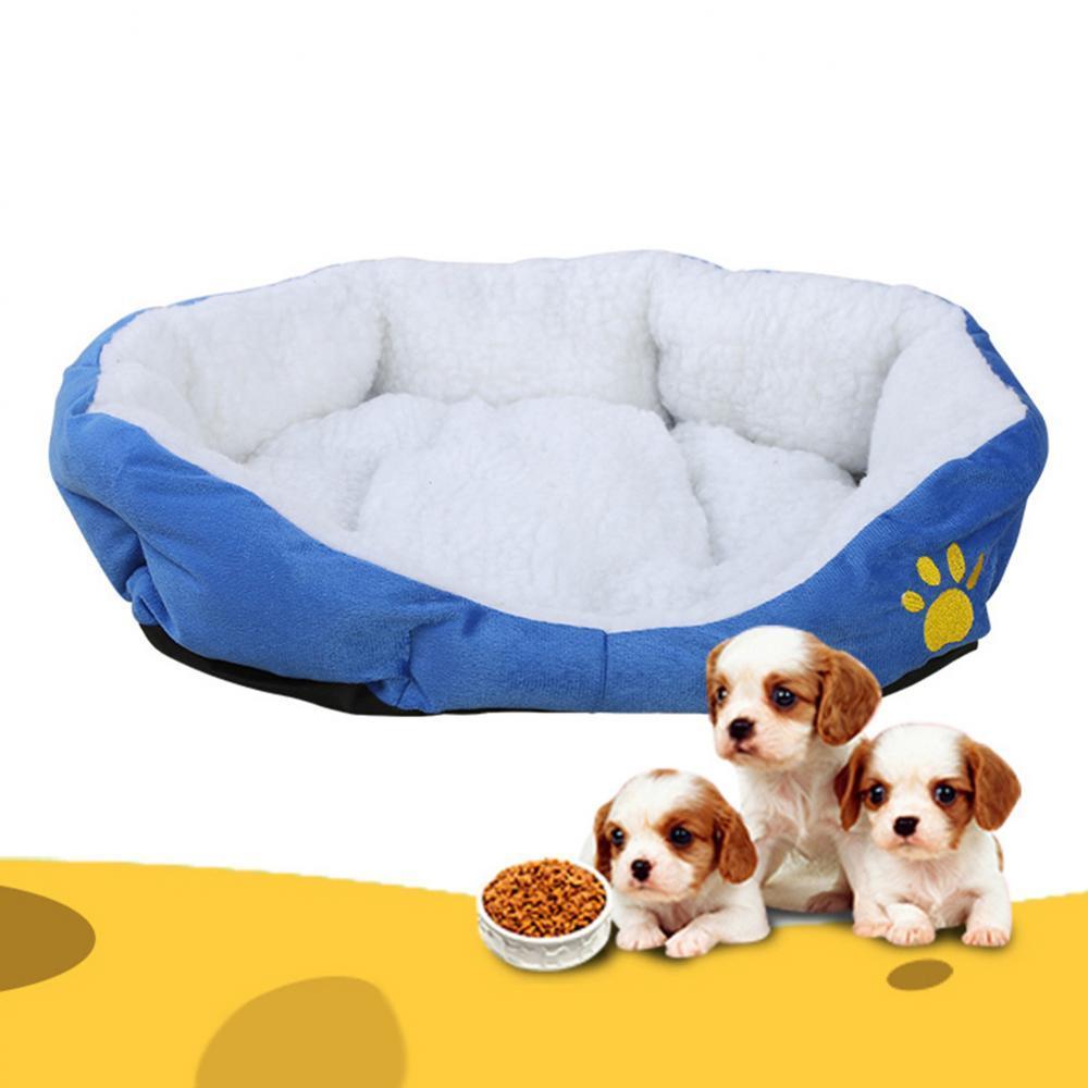 Cojín de cama de lana para mascotas, cojín de cama, manta, nido