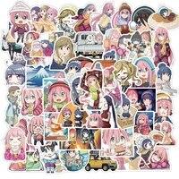 103050pcs yuru camp anime cartoon stickers diy graffiti car motorcycle travel luggage guitar fridge funny kids sticker decals
