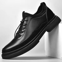 molosia mens dress shoes cap toe breathable leather lined lace up handmade male oxfords