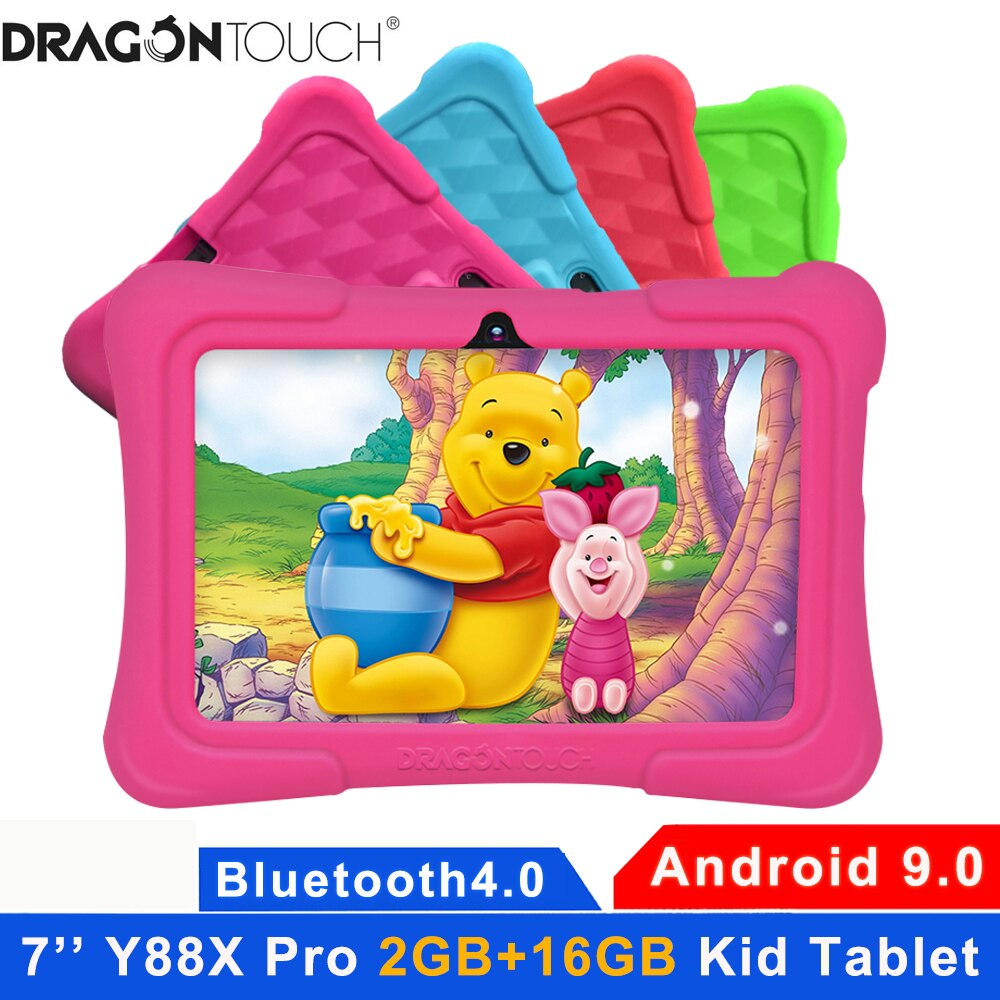 Dragon Touch Y88X Pro Kids Tablet 7inch HD Android 9.0 2GB Ram 16G Tablets for Children with Tablet Bag Bluetooth Wifi Tablet PC