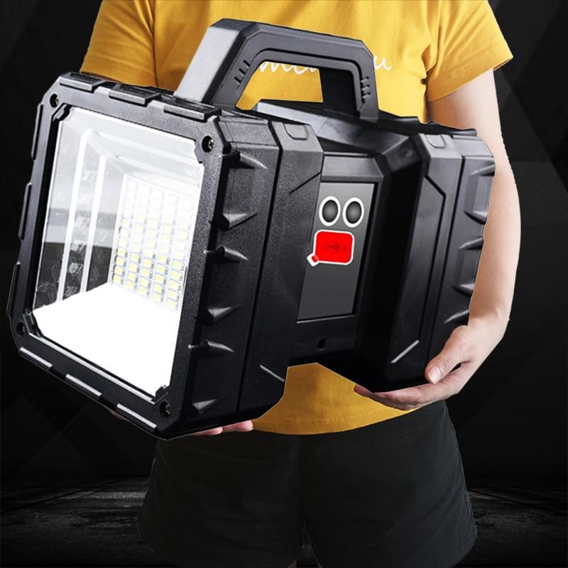 XHP100 9-Core مصباح LED فائق السطوع قابلة للشحن مزدوجة رئيس الكشاف يده مصباح يدوي ضوء العمل الأضواء الكاشفة XHP70.2