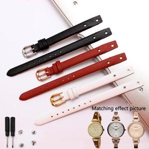 High Quality Genuine Leather Watchbands For Fossil ES3745 ES3861 ES4340 ES4026 ES3862female  Watch Straps 8mm Small Bracelet