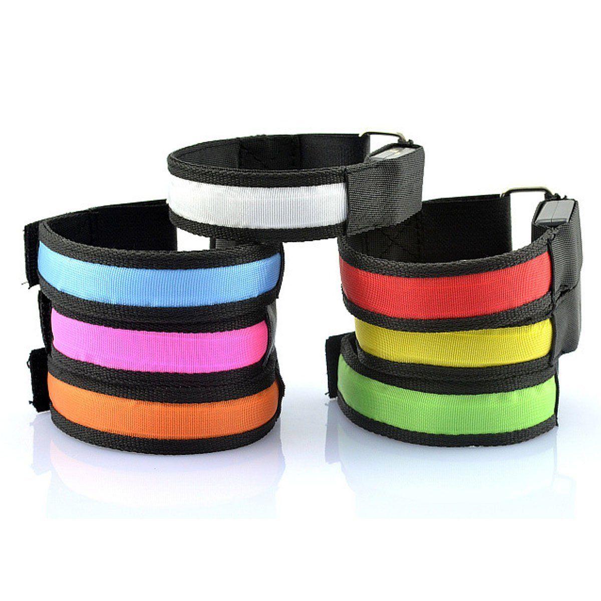 Bracelets de sport lumineux réglables à LED, 1 pièce, lumière de course, pour coureurs, joggeurs, cyclistes, vélo de sécurité