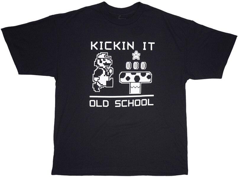 Nintendo Super Mario Bros pateando la vieja escuela T camisa hombres LT-3XL Hip-Hop camiseta femenina masculina camisa