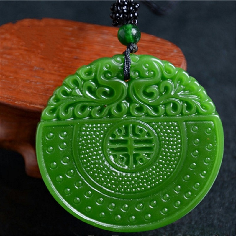 Фото - Natural Green Hand Carved Double Dragon Ping'an Buckle Jade Pendant  Boutique Jewelry Men's and Women's Zodiac Dragon Necklace natalie yacobson swan and dragon dragon empire