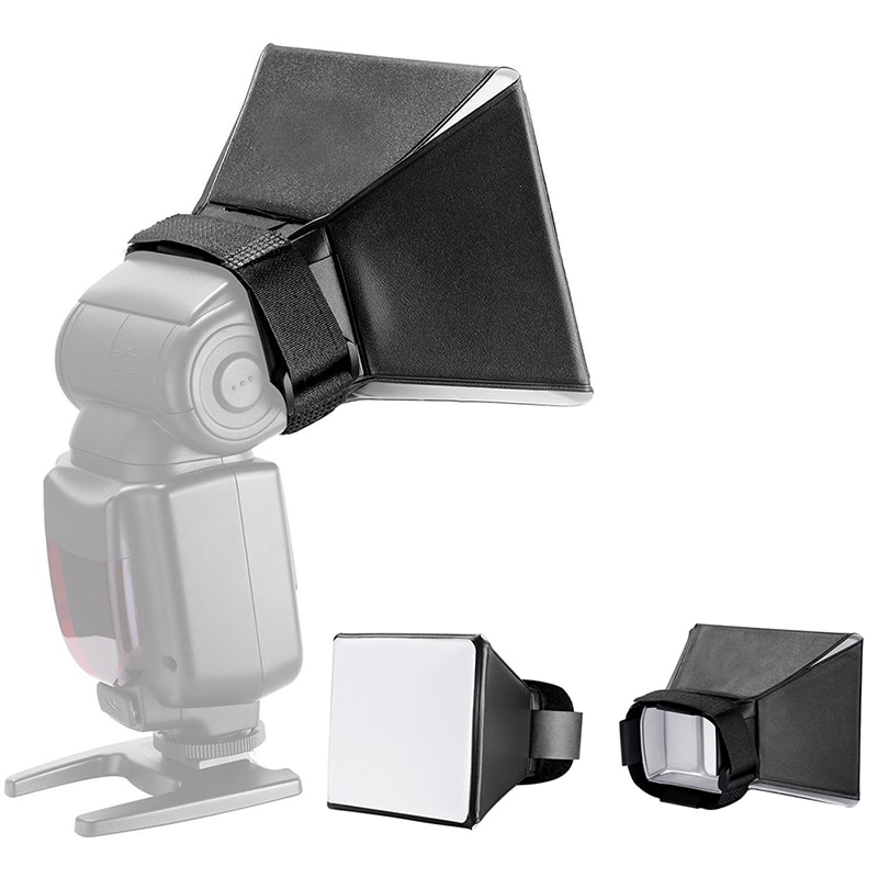 6.5 10x13cm Mini Softbox Diffuser For DSLR Flash Speedlite Speed Light Portable Photography