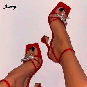 Summer Women Sandals Sexy Diamond High Heels Gladiator Clip Toe Bandage Buckle Strap Ladies Fashion Stiletto Shoes Woman New 42