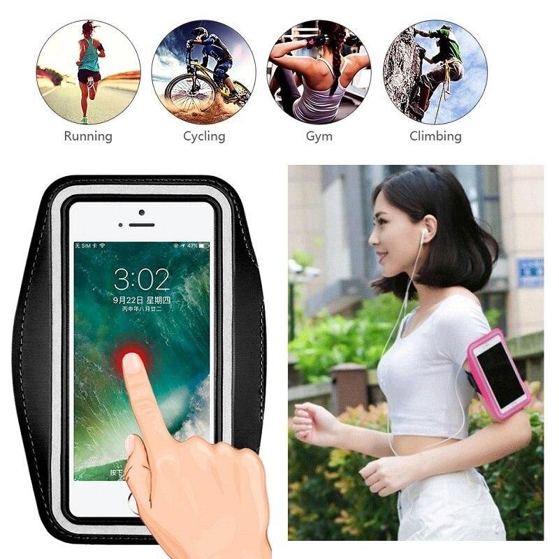 Para iPhone 8 7 6 6s Plus 5 S 5 SE iPhone X XR XS 11 Pro Max bolsa funda a mano para teléfono soporte bolsa de cinturón para correr funda deportiva