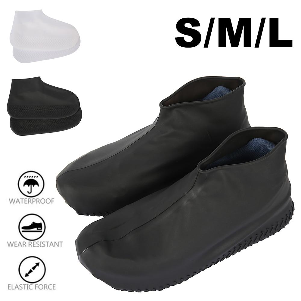Fundas impermeables para zapatos, cubiertas de silicona reutilizables para lluvia, organizador de zapatos, botas de lluvia antideslizantes lavables, funda para zapatos para exterior