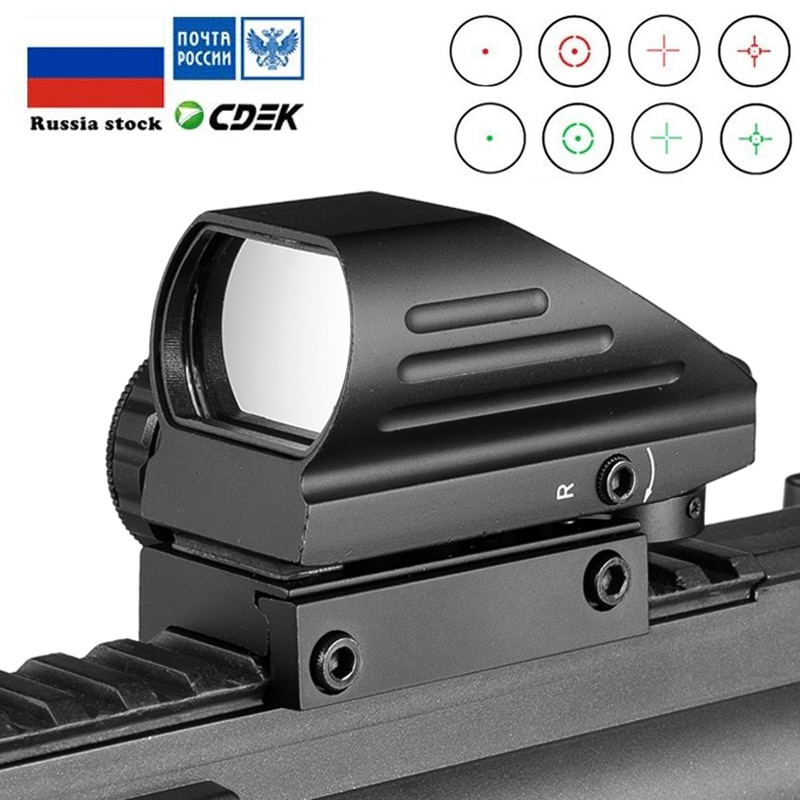 Tactical Reflex Red Green Laser 4 Reticle Holographic Projected Dot Sight Scope Airgun sight Hunting 11mm/20mm Rail Mount AK