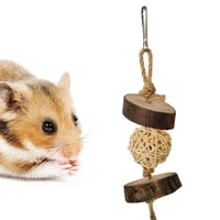 pet hamster parrot bird toy rattan ball molar biting wood strings bite resistant cage log color parrot entertainment accessories