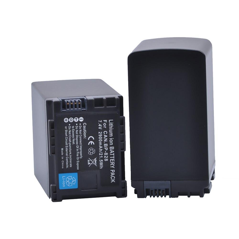 2Pc 2900mAh BP828 BP 828 BP-828 baterías para Canon BP-820 LEGRIA iVIS VIXIA GX10 XF400 XF405 HFM41 HFM400 HFS21 HFS30 HFG20 G30